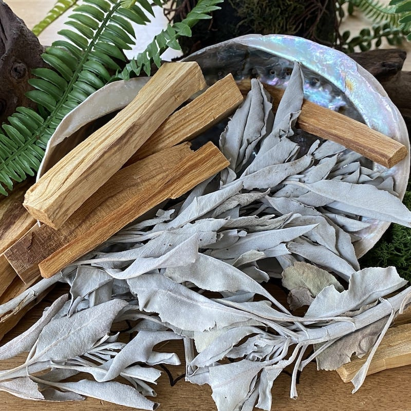 essential items white sage smudge cleansing