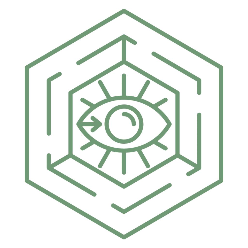 Hexagon Eye Alchemy Crystal Grid