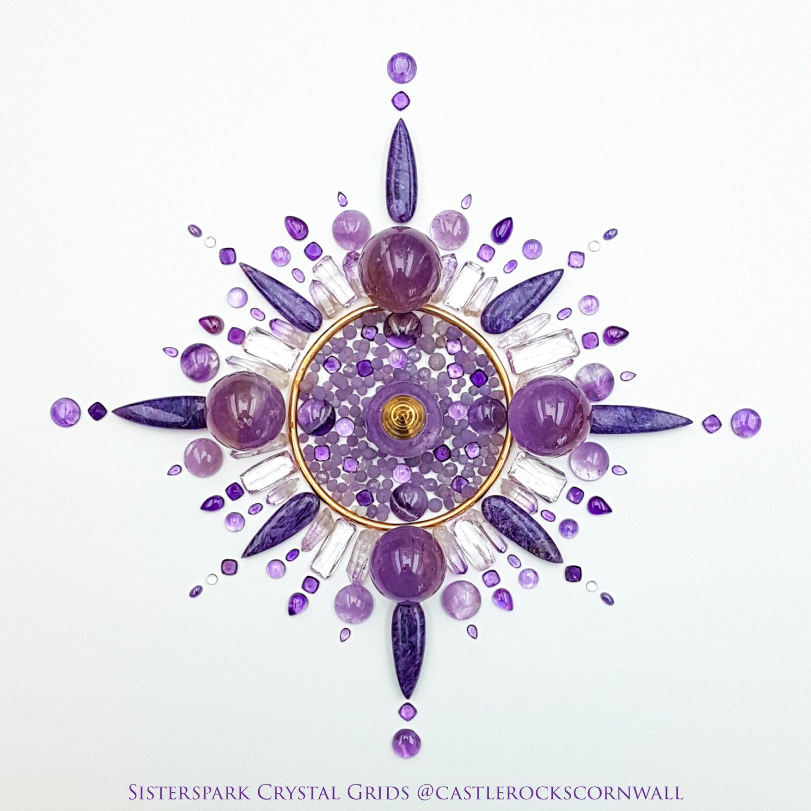 Purple Flame Grid